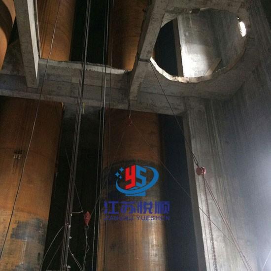 烟囱钛钢复合板内筒改造